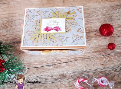 Explosionsbox für Gutschein zu Weihnachten