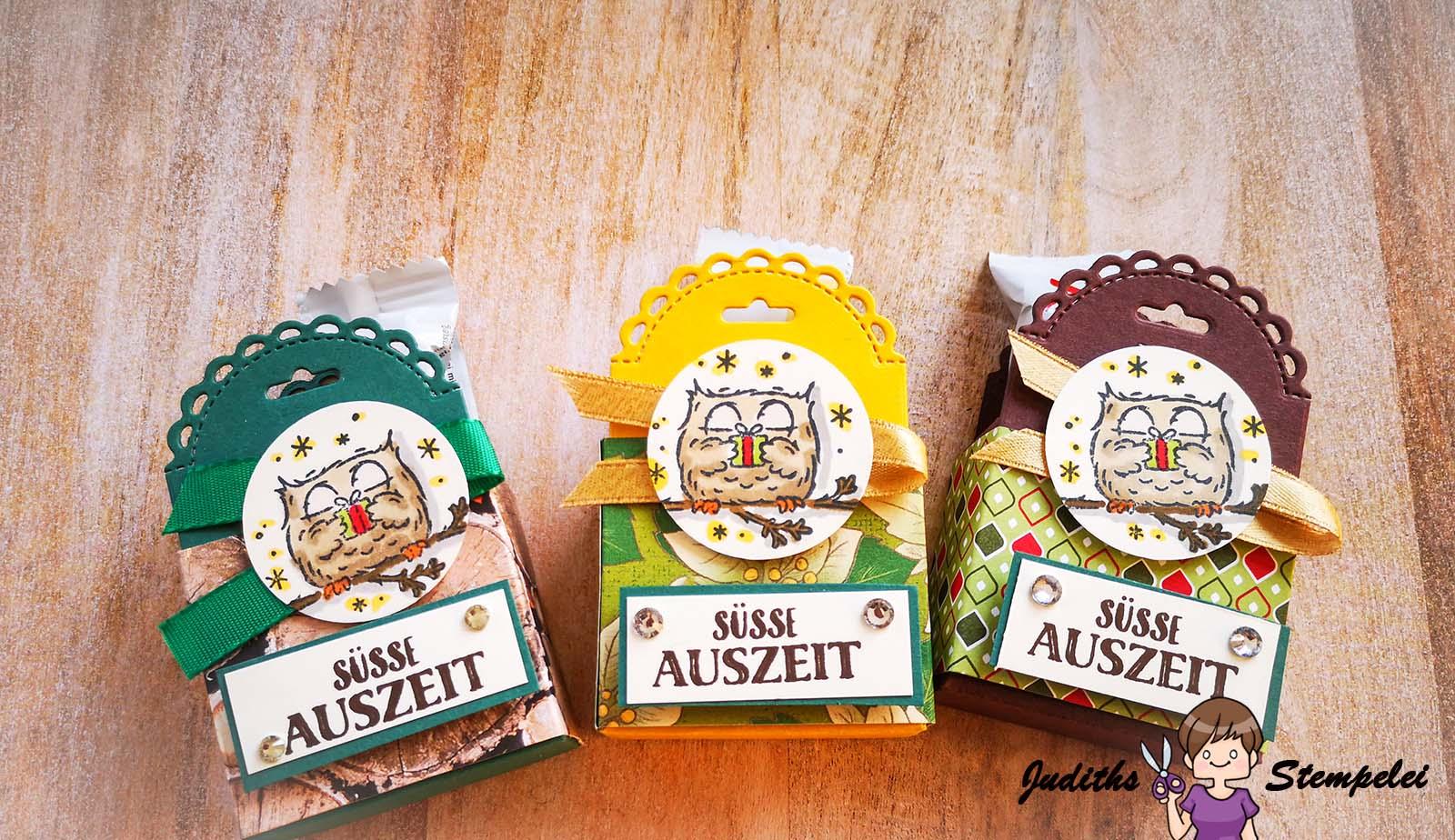 Goodies mit dem Stempelset Eulenfest und den Stanzformen Mini Geschenkschachtel